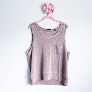 ATM Sun Bleached French Terry Tank Top